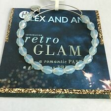 """ALEX AND ANI """"SERENITY - PEARLY LIGHT"""" BEADED BRACELET IN RUSSIAN SILVER. NWT!"""