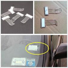 New 5pcs Car Vehicle Windscreen Park Parking Ticket Clip Work Pass Holder Gadget