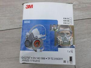 3M 6000 Series Half Respirator - Size Medium (6200) - Filters included