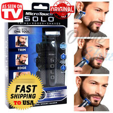 Micro Touch SOLO Rechargeable Trimmer Razor Shaver Edges Men Gift As Seen On TV