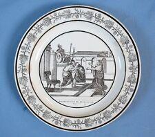 Assiette Faïence Fine deCHOISY «Réconciliation...» / PériodeP& H / 1824-36