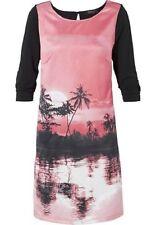 Anna Scholz for sheego Tunikakleid Gr. 58 pink schwarz Kleid Sommerkleid