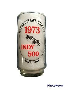 1973 Indy 500 Glass Tumbler with Race Winners from 1911-1972