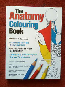 The Anatomy Colouring Book, Illustrations by James Berrange, 240 pages-