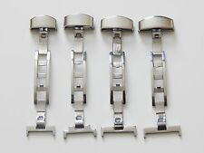 Stainless steel Deployment butterfly clasp/buckle for leather straps bands