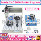 4 Axis CNC 3040T Router Engraving Machine PCB Woodworking Carving Engraver USB