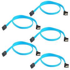 "5x 18""SATA 3.0 Cable SATA3 III 6GB/s Right Angle 90 Degree for HDD Hard Drive KK"