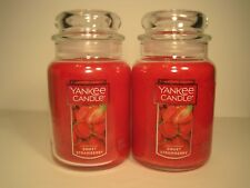 "Yankee Candle, (2) 22 oz. Jars ""Sweet Strawberry"""