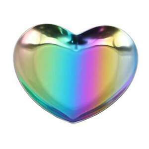 HEART SHAPED STAINLESS TRINKET RING TRAY
