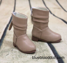 1/4 bjd msd girl doll tan color short boots shoes dollfie luts S-108M ship US