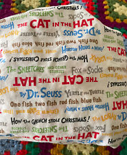 Trend Lab Dr Seuss Fitted Crib Sheet Book Titles Print Multi Color Cotton