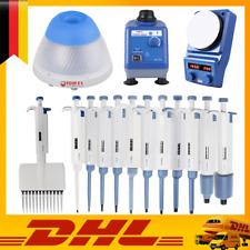 Einkanal-Pipette 0,1?l-10ml | Mini Vortex Mixer | Magnetrührer | Mini Zentrifuge