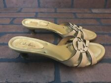 Cole Haan Beige Leather Slippers Size 8.5 AA