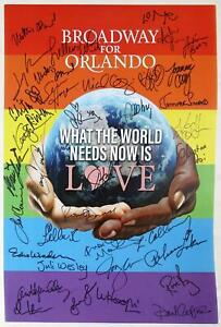 BROADWAY FOR ORLANDO Cast Lin-Manuel Miranda, Rebecca Luker + Signed Poster