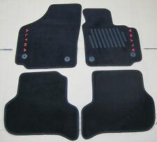 NEW GENUINE SEAT ALTEA 5P FRONT + REAR BLACK CARPET MATS SET