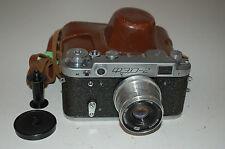 FED 2 (Tipo C2) VINTAGE SOVIETICO Telemetro Fotocamera. con Custodia. 1959. (707363) CLA