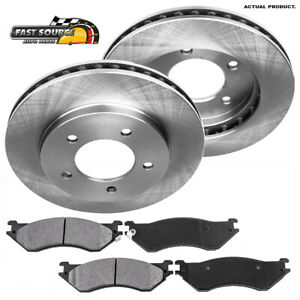Front Drill And Slot Brake Rotors /& Metallic Pads For 4WD Expedition Navigator