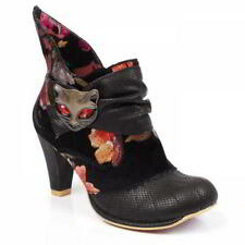 Irregular Choice Miaow Womens Black Purple High Heel Party Boots Size UK 4-8