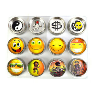 1.25″ 2 Parts Emoji Skull Bob Marley Design Zinc Alloy Herb Metal Grinder - 1pc