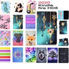 For Amazon Kindle Fire HD8/8Plus 10th 2020 Pattern Leather Magnetic Stand Case