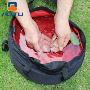 Portable Travel Basin Folding Wash Basin Outdoor Fishing Bucket for Camping