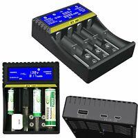 Cargador de Batería Inteligente LCD Para 9V AA AAA 18650 Ni-MH Ni-CD Li-ion Lote