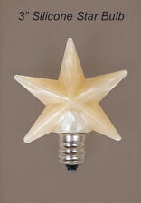 "3"" Warm Silicone Star Bulb w/Replaceable 3 Watt Candelabra Bulb ~ Made in USA"