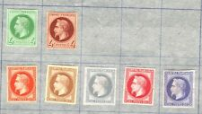 FRANCE CLASSIC Napoleon Imperforate COLOUR TRIALS{7} PROOFS? {samwells} SS309