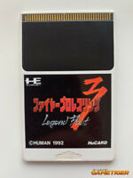 "FIRE PRO WRESTLING 3 LEGEND BOUT ""No Box/No Manual"" NEC PC Engine HuCard JAPAN"