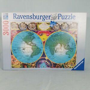 ANTIQUE MAP 3000 Piece Ravensburger Jigsaw Puzzle 48 x 32