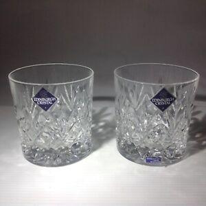 Vintage Edinburgh Crystal Tay Whiskey glasses x 2 from Scotland