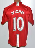 MANCHESTER UNITED 2007/2008/2009 HOME FOOTBALL SHIRT NIKE ROONEY #10 SIZE M