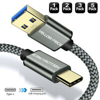 For Samsung S20 S10 S9 S8+ Note 10 9 8USB 3.0 Type C Fast Charger Braided Cable