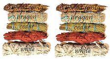 SET of 10 Sage Smudge Stick SAMPLER Yerba, Red, White, Cedar, Dragons blood ~ #6