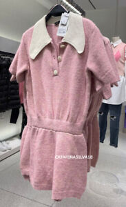 ZARA NEW WOMAN SS21 PINK KNIT PLAYSUIT REF:5802/013