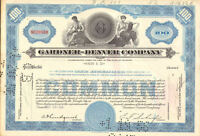 Gardner-Denver Company > old 1950s machinery stock certificate share scripophily