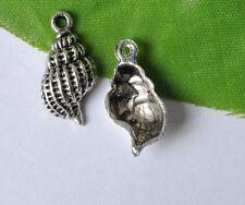 20pcs tibetan silver conch charm pendant 19X9MM JK0033