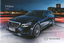 Mercedes clase e t-modelo folleto 31.10.12 brochure 2012 auto automóviles Alemania