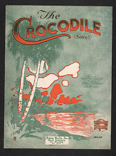 The Crocodile Song 1920 Sheet Music