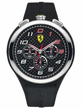 NEW SCUDERIA FERRARI 0830100 READY SET GO CHRONOGRAPH WATCH - 2 YEARS WARRANTY