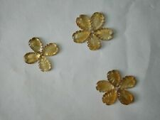 14 Piece Natural  Citrine carving leaves 35.30 Cts Mix Loose Gemstone