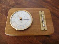 Luff Wetterstation, Thermometer & Barometer aus Holz & Messing, Luftfeuchtigkeit