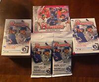 2020 Bowman Baseball 3 Box Lot 1 Mega Box 2 Blasters, 2 packs . Dominguez Auto?