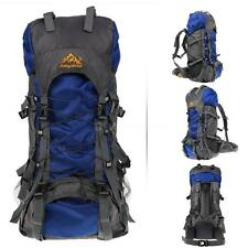 55L Climbing Camping Mountaineering with Rain-Cover Internal Frame Backpack I8T1