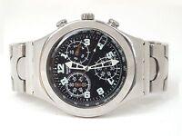Swatch irony cronografo vintage anni '90  in  acciao bracciale originale design