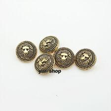 10pcs Gold Vintage Lion Metal Shank Buttons Craft DIY Sewing Embellishment Coat