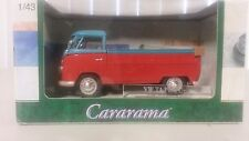 VW T1 PICK UP 1:43 CARARAMA NIB Red & Blue