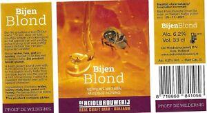 Beer Label Netherlands BIJENBLOND De Heidebrouwerij Ede