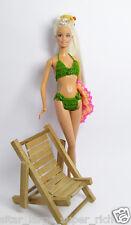 Handmade Green Crochet Sexy Bikini Beach Outfit Dress For Barbie Muse Doll Fr