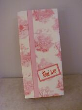 "Empty ""Terri Lee"" Red/Cream Toile Doll Box From Knickerbocker"